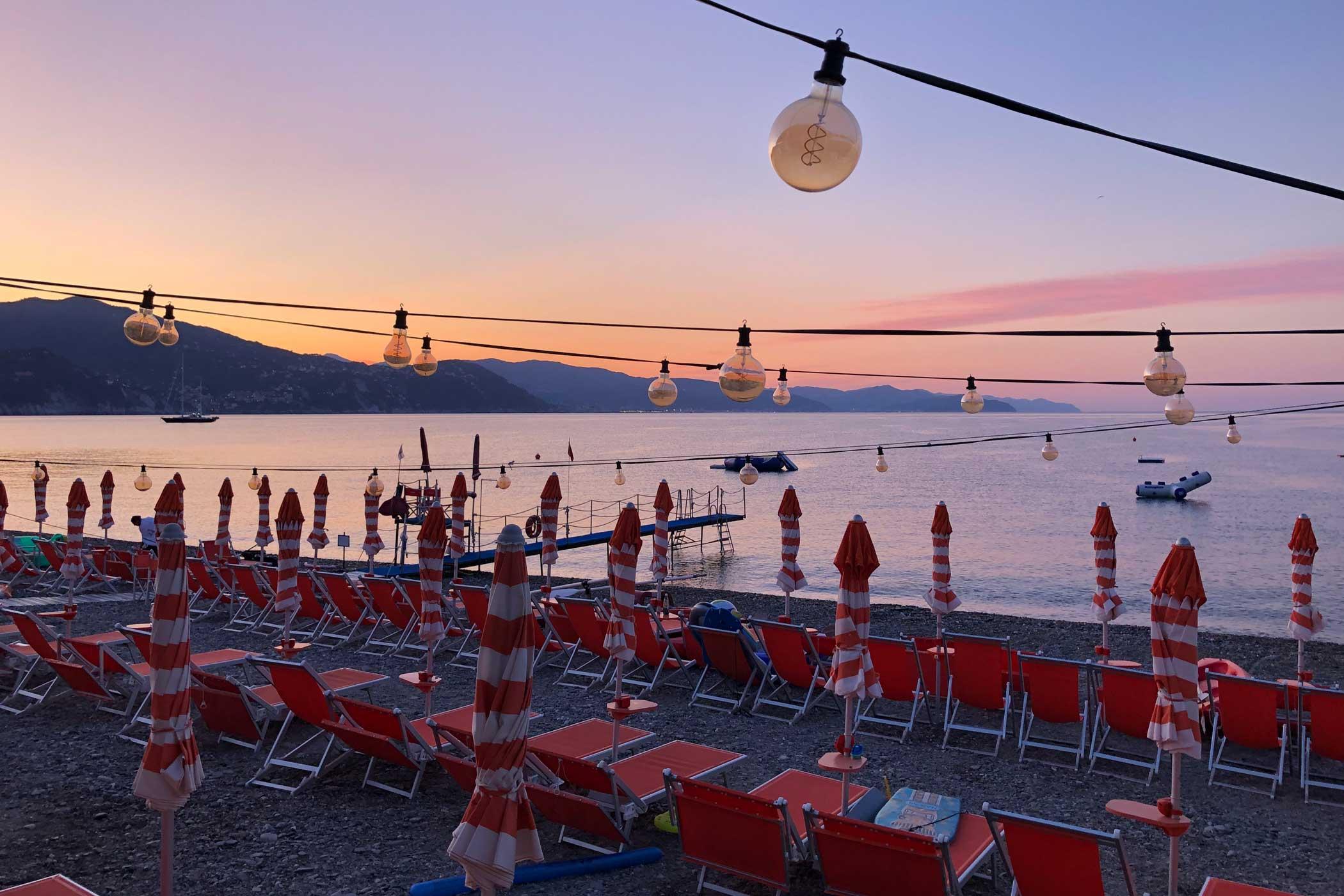 Bagni Sirena Santa Margherita Ligure 2019 - tramonto