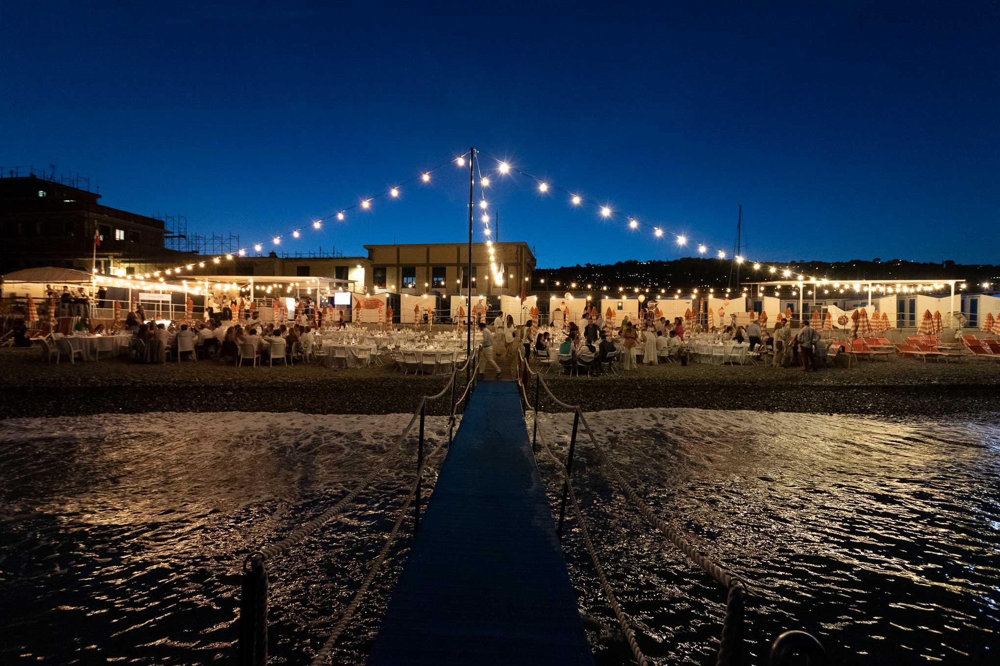 Bagni Sirena di sera, dal pontile