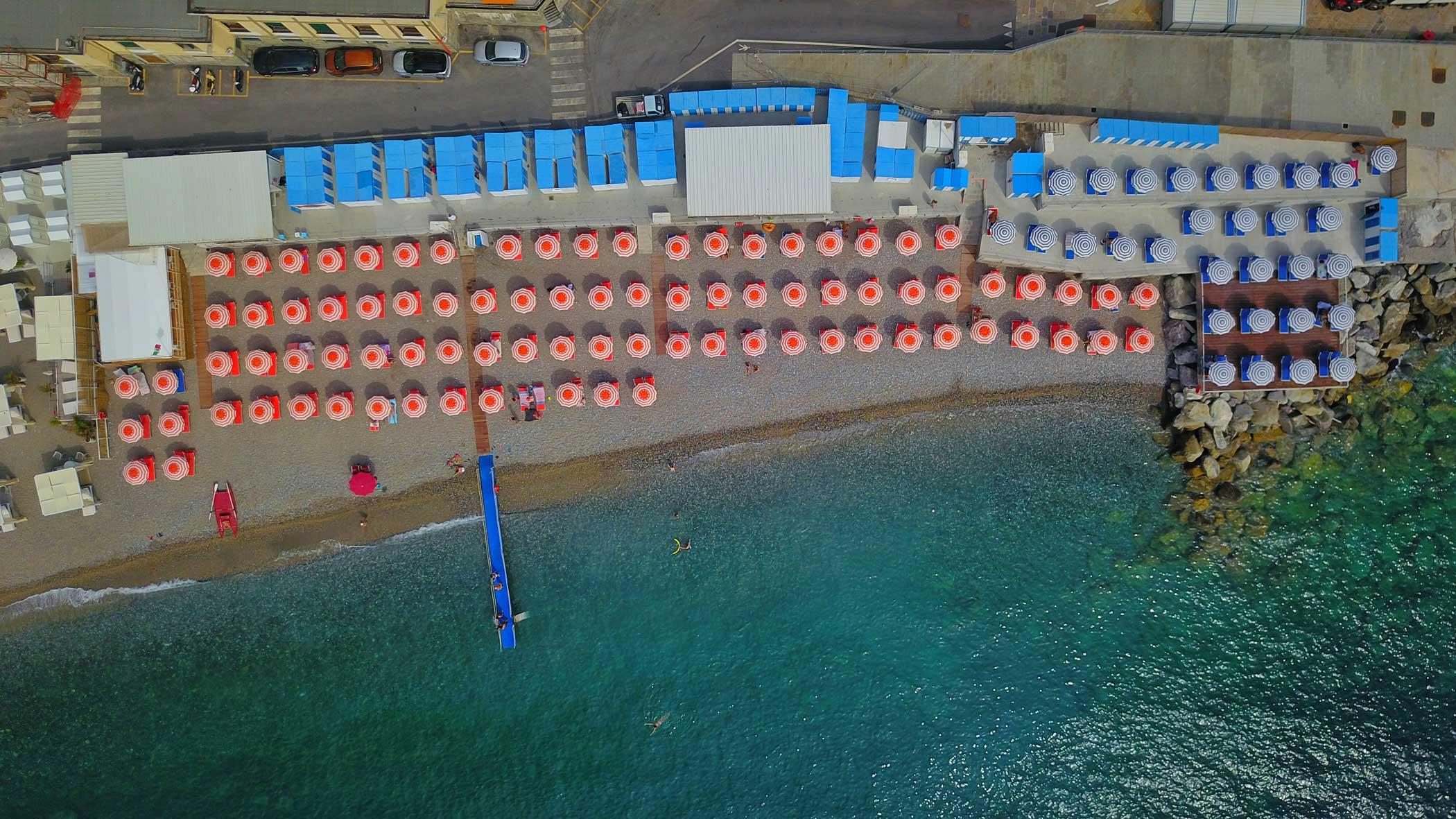 Bagni Sirena dall'alto - Santa Margherita Ligure 2020