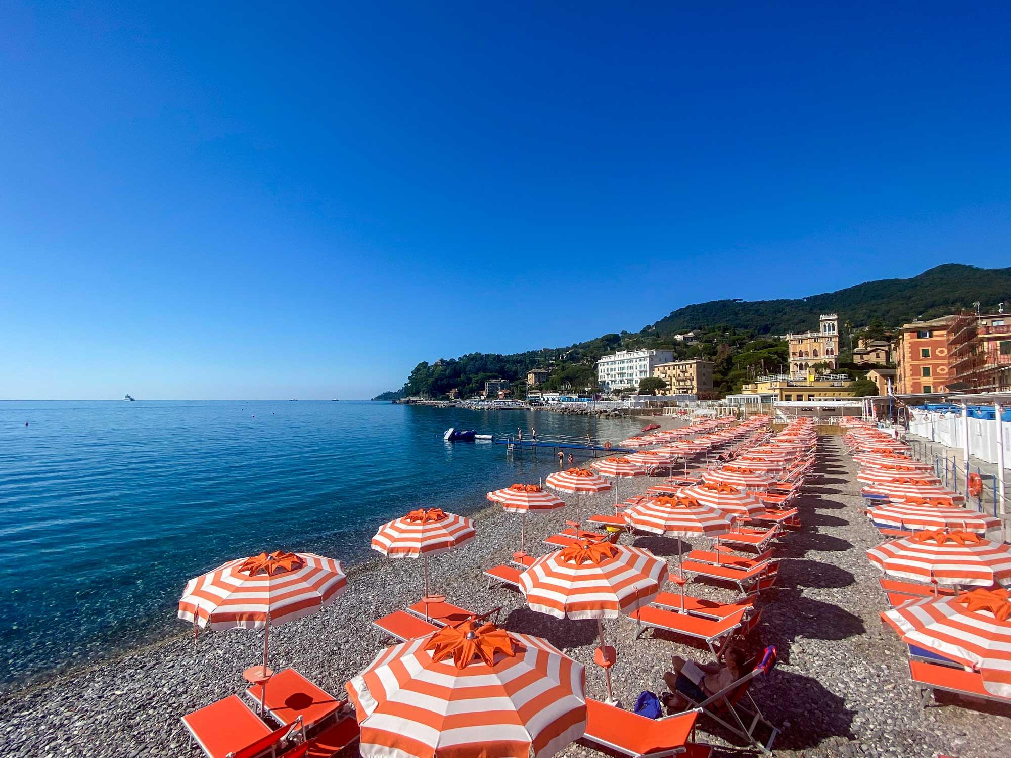 Spiaggia dei Bagni Sirena - Santa Margherita Ligure