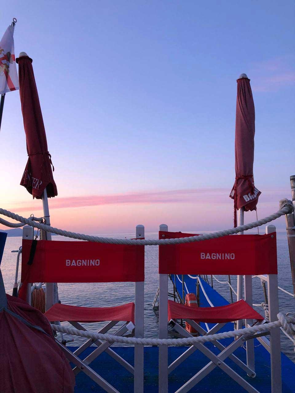 Bagnini al tramonto - Bagni Sirena