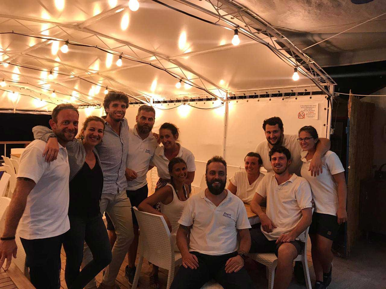 Staff ferragosto Bagni Sirena 2019