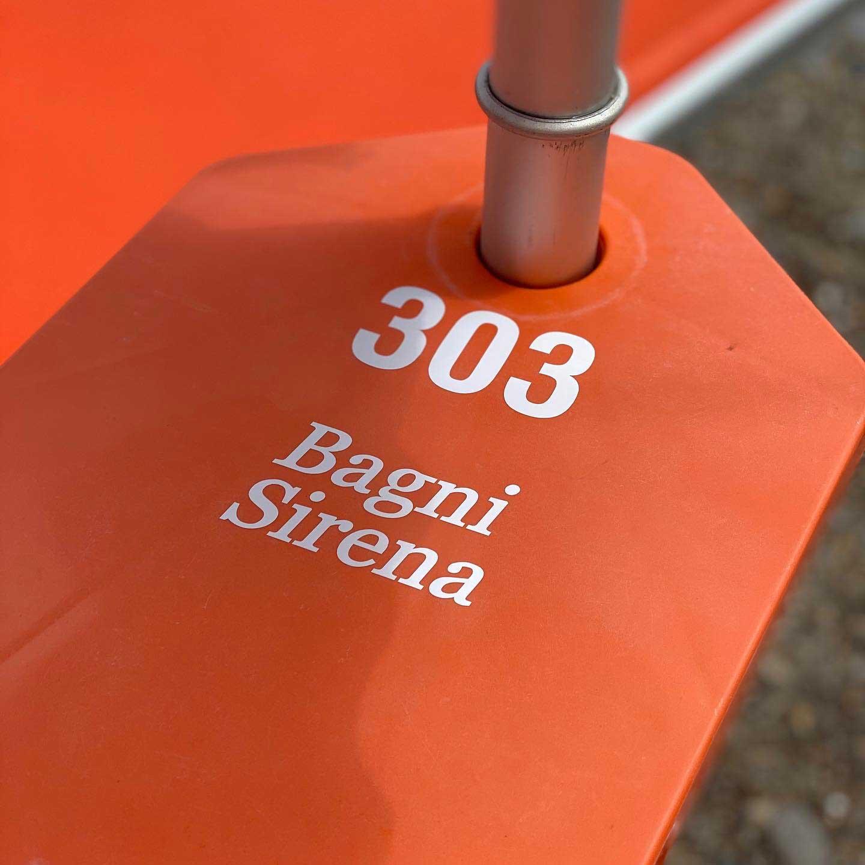 Dettaglio ripiano ombrellone - Bagni Sirena 2020