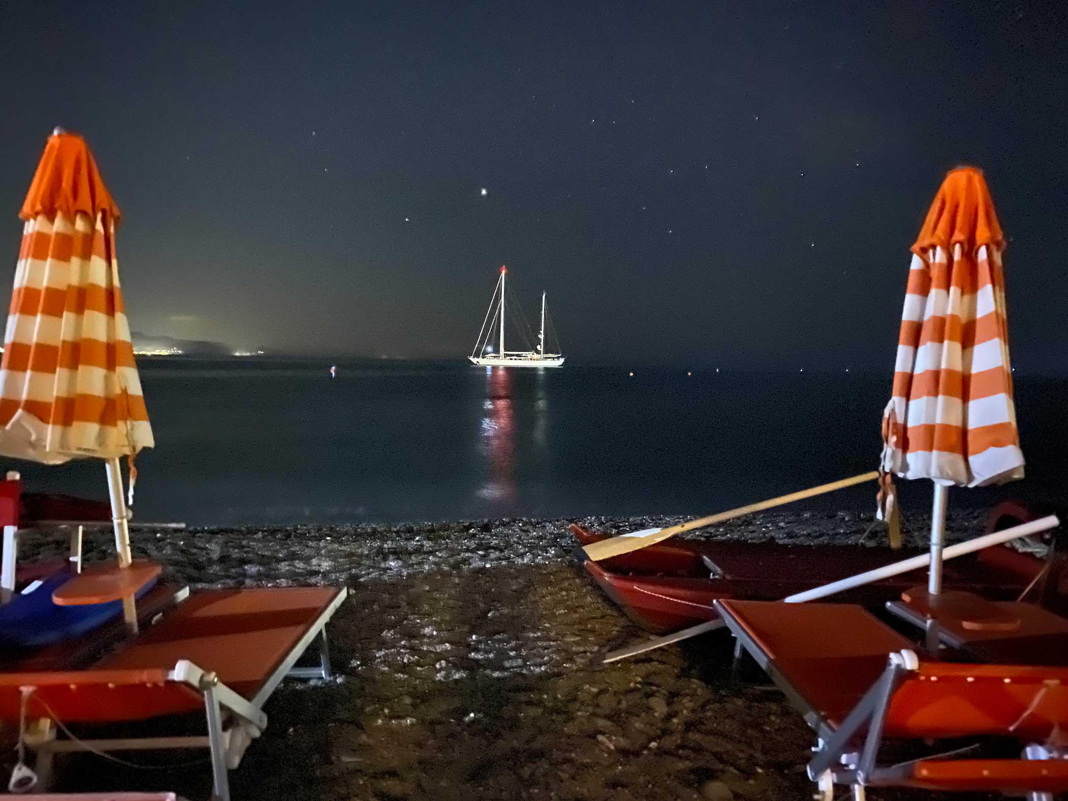 Mare di notte ai Bagni Sirena 2020