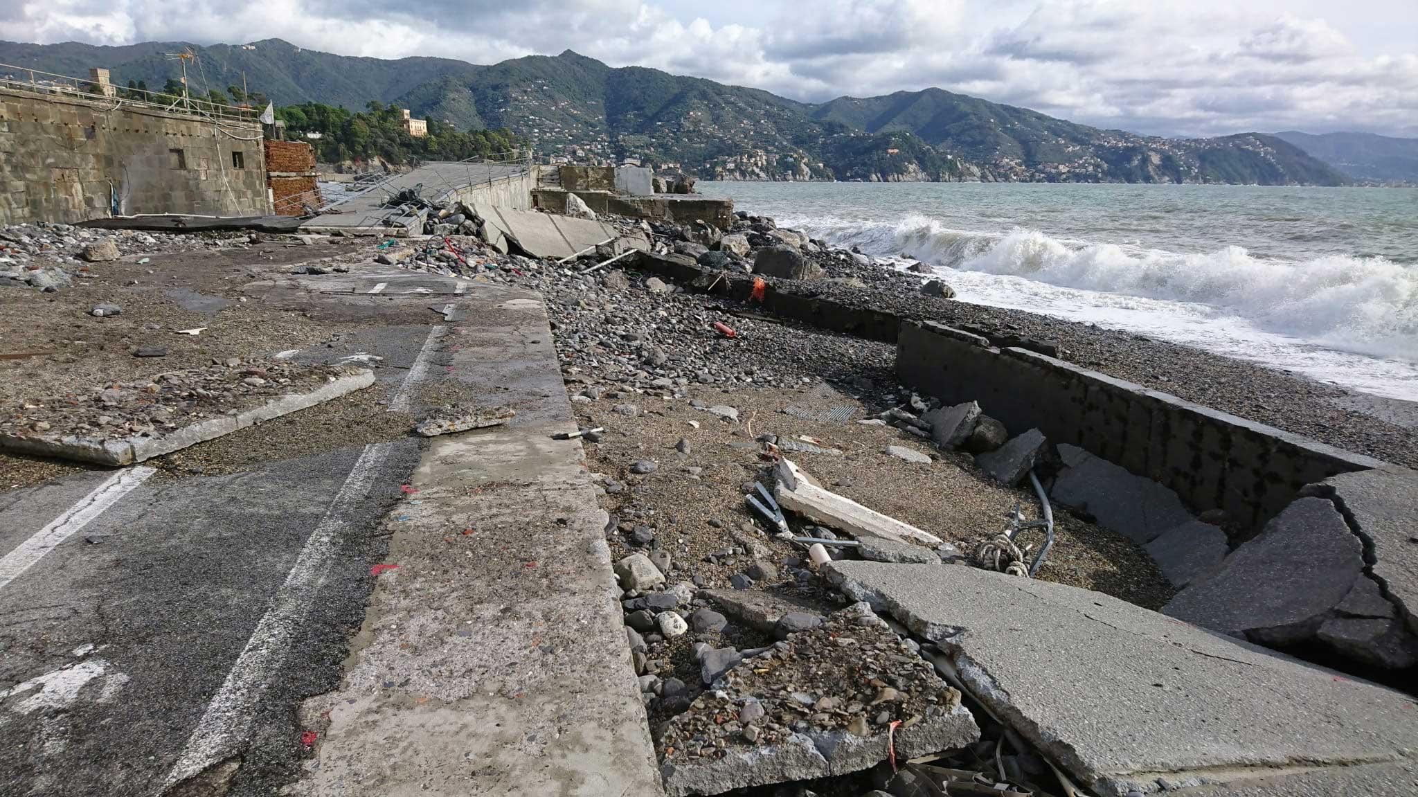 Mareggiata ai Bagni Sirena - Santa Margherita Ligure 2018