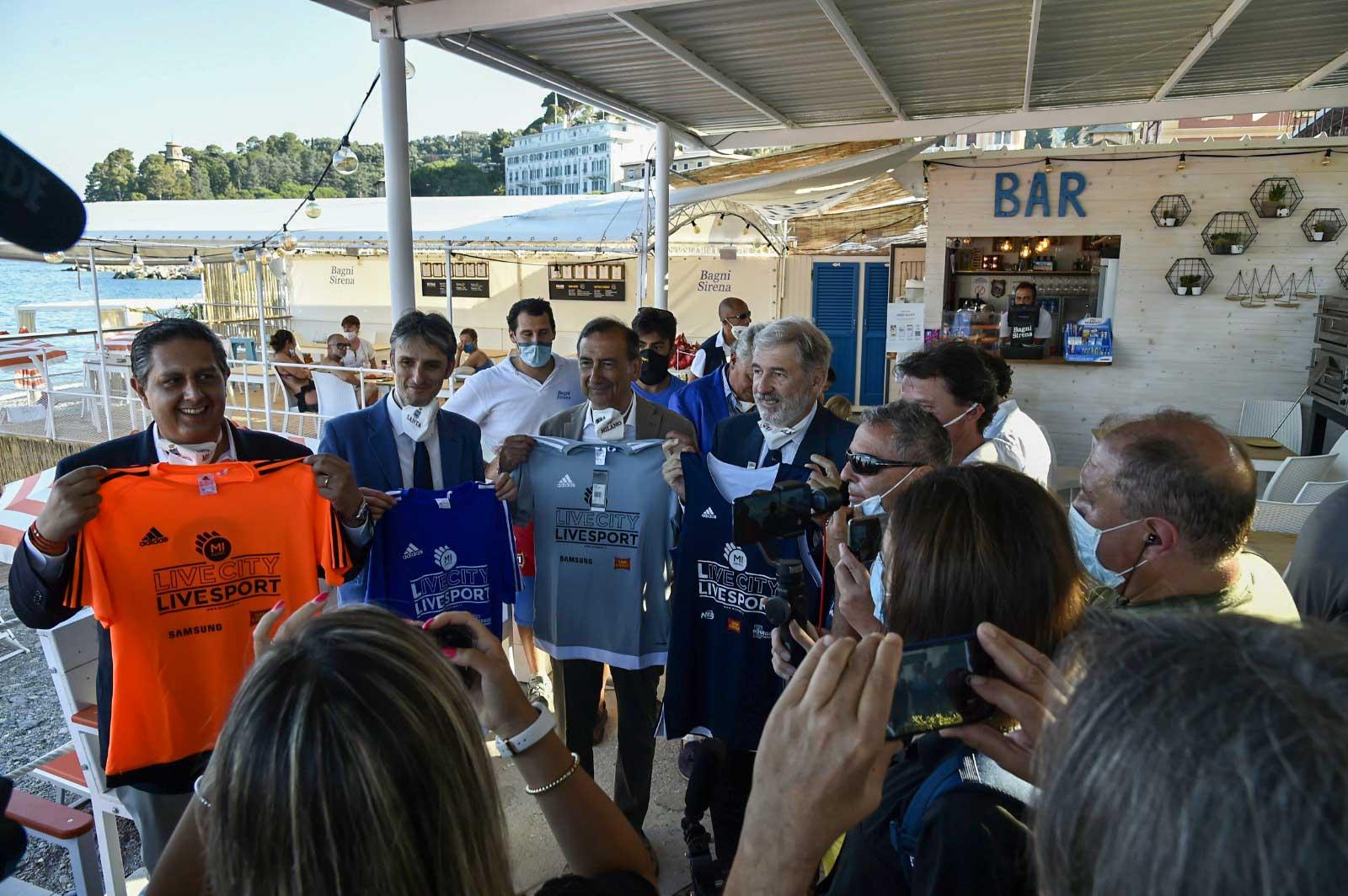 Sala (Milano) con Toti (Liguria) Bagni Sirena 2020