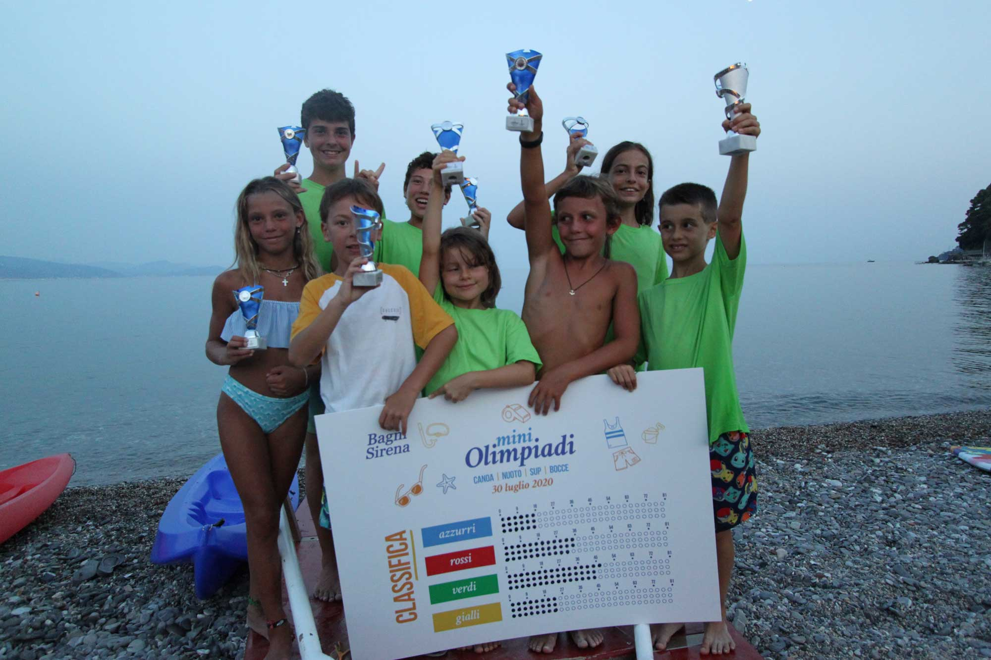 Vincitori mini olimpiadi - Bagni Sirena 2020